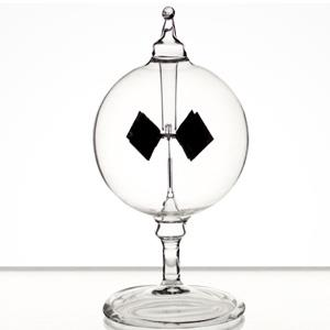 賽先生科學工廠-光能輻射計/太陽風車-透明12cm