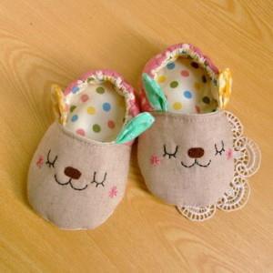 手縫ok!-吉米兔嬰兒鞋(拼布材料包)