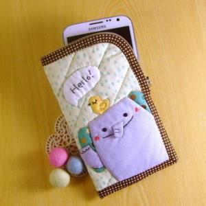 手縫ok!-哈囉手機袋-大象(拼布材料包)