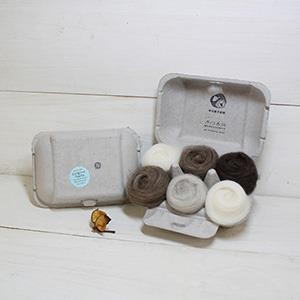 羊毛氈手創館【口味雞蛋盒】Original 原味-科里戴爾自然系列 (贈工具)