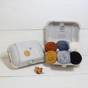羊毛氈手創館【口味雞蛋盒】Almond 杏仁果 (贈工具)