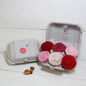 羊毛氈手創館【口味雞蛋盒】Strawberry 草莓 (贈工具)
