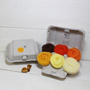 羊毛氈手創館【口味雞蛋盒】Orange 橘子 (贈工具)