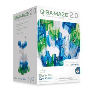 滾球迷宮積木Q-BA-MAZE(冷色系)