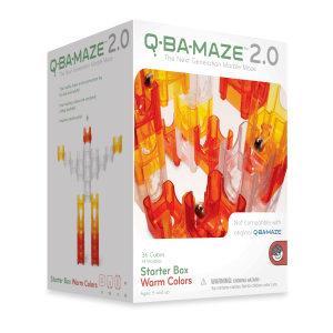 滾球迷宮積木Q-BA-MAZE(暖色系)