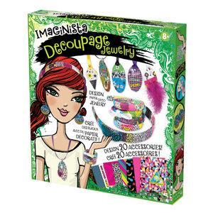 DIY飾品組-彩紙拼貼 Decoupage Jewelry