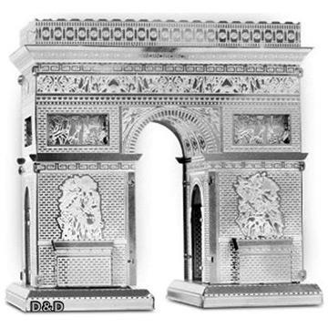 《 Tenyo 》金屬微型模型拼圖 TMN-17 巴黎凱旋門