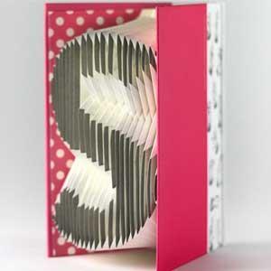 賽先生科學工廠-字母摺紙筆記本-粉紅