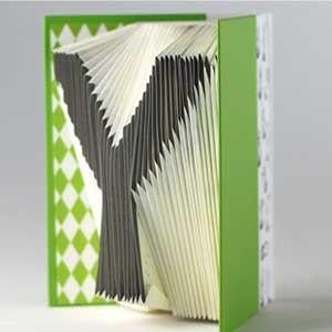 賽先生科學工廠-字母摺紙筆記本-翠綠