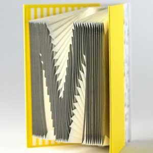 賽先生科學工廠-字母摺紙筆記本-鮮黃