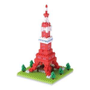 《Nano Block迷你積木》【 世界主題建築系列 】NBH-090東京鐵塔