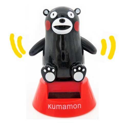 熊本熊 萌熊 酷MA萌 庫瑪蒙 KUMAMON 太陽能公仔 太陽能娃娃 擺飾 療癒小物