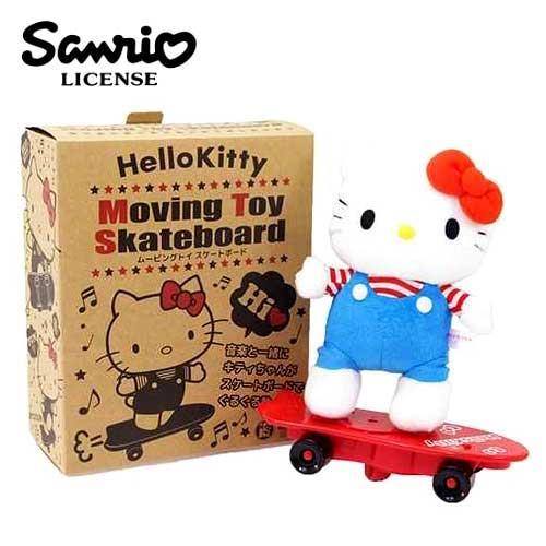 Hello Kitty 音樂滑板娃娃 絨毛玩具 音樂玩偶 凱蒂貓 三麗鷗