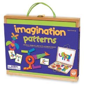 小小美術家 彩色圖騰積木磁鐵白板 Imagination Patterns