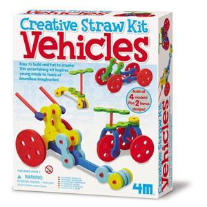 《4M美勞創作》吸管創意 - 汽車樂園 Tubee Creative Kit - Vehicles