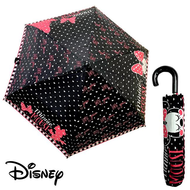 迪士尼 米妮 Minnie Mouse 水玉點點 輕量型 雨傘 晴雨傘 折疊傘 附傘套 米老鼠