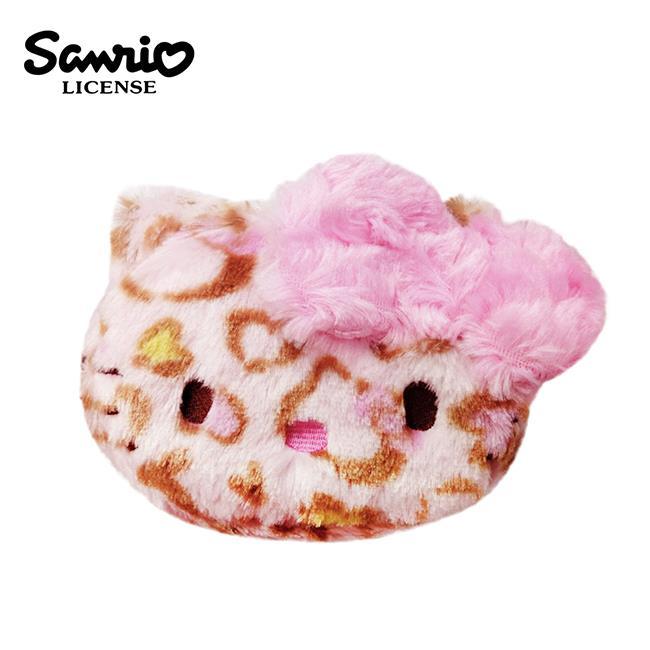 Hello Kitty 凱蒂貓 粉紅色 立體蝴蝶結 豹紋化妝包 錢包 收納包