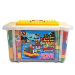 《OK-233》大收納箱益智大顆粒積木組 230 pcs