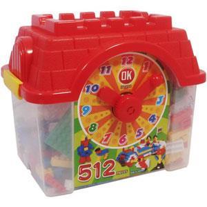 《OK-512》鐘塔造型創意積木箱 (512pcs)