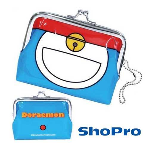 哆啦A夢 珠扣包 防潑水 零錢包 卡片包 小叮噹