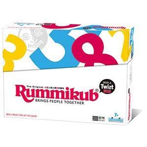 Rummikub 拉密-數字磚塊牌Twist 變臉版(扁形盒包裝)桌遊