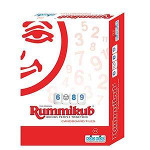 Rummikub 拉密-數字磚塊牌Cardboard Lite外出型簡易版 桌遊