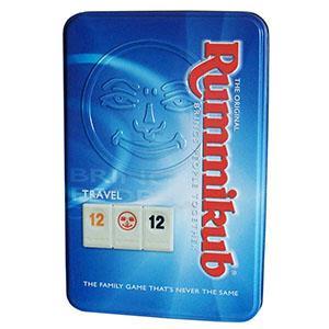 Rummikub 拉密-數字磚塊牌Tin Mini外出型鐵盒裝桌遊