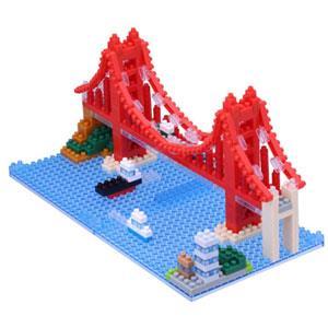 《Nano Block 迷你積木》【世界主題建築系列】NBH-116金門大橋