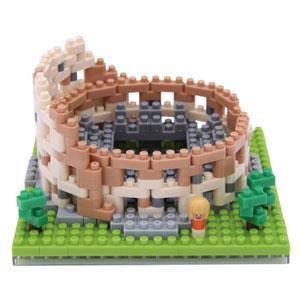 《Nano Block 迷你積木》【世界主題建築系列】NBH - 121 羅馬競技場