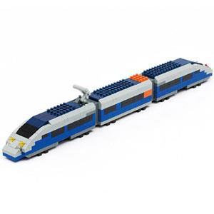 《Nano Block 迷你積木》【列車收藏築系列】nGT_010藍色子彈列車