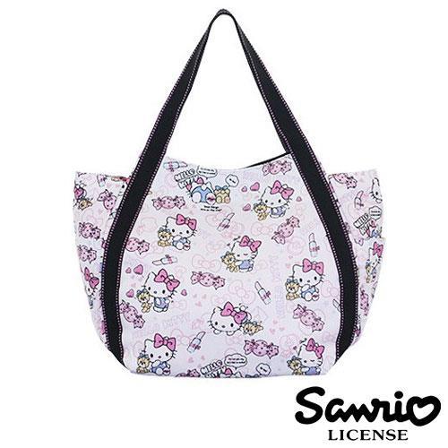 凱蒂貓 Hello Kitty X Dearisimo 帆布肩揹包 托特包 帆布包 手提包