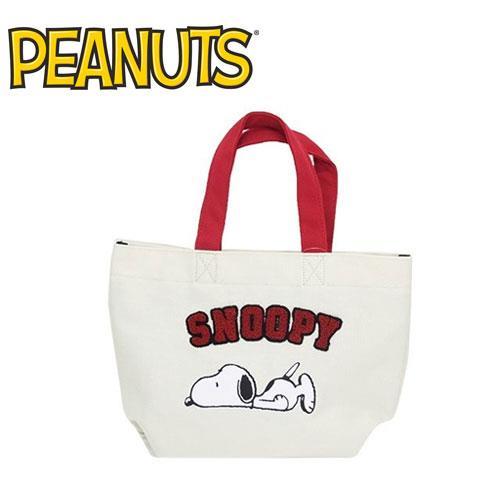 史努比 SNOOPY 可愛精繡 手提袋 便當袋 帆布袋 收納袋 PEANUTS