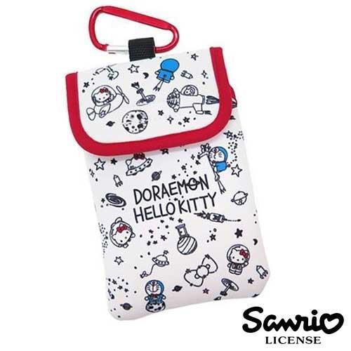 哆啦A夢 Hello Kitty 聯名 白色款 防震手機套 保護套 附金屬掛勾 三麗鷗