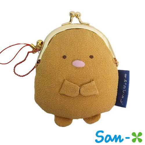 San-X 角落生物 角落公仔 豬排款 日式和風 吊飾珠扣包 小錢包 零錢包