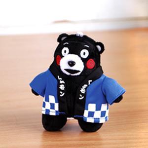 Kumamon酷MA萌 立姿絨毛吊飾玩偶(小)-藍色