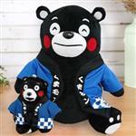 超值組 Kumamon酷MA萌 絨毛玩偶(藍色)-大+小