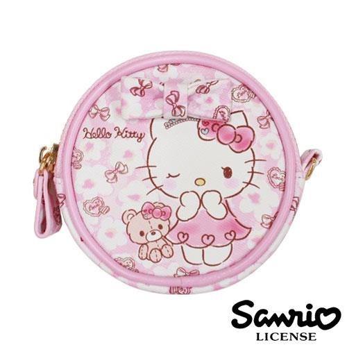 HelloKitty 凱蒂貓 三麗鷗 人物系列 圓型 皮質 零錢包 SANRIO