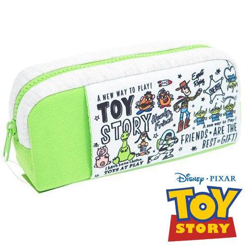 玩具總動員 厚棉 大筆袋 鉛筆盒 化妝包 收納包 TOY STORY 迪士尼 Disney