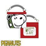 Snoopy 史努比 皮質 彈力 雙層 票卡夾 票夾 防潑水 PEANUTS