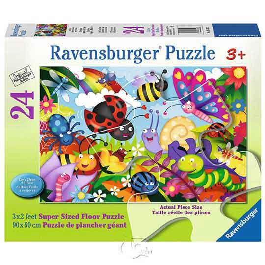 【德國Ravensburger拼圖】可愛的昆蟲們-地板拼圖-24片Cute Bugs