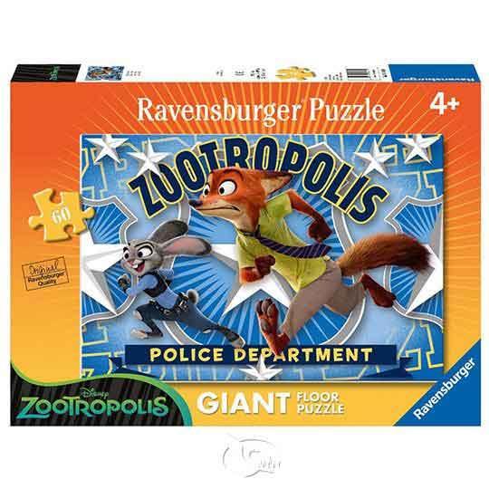 【德國Ravensburger拼圖】動物方程市:跑!-地板拼圖-60片Disney: Zootopia