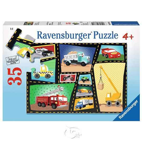 【德國Ravensburger拼圖】工程車集錦-35片Tires & Engines