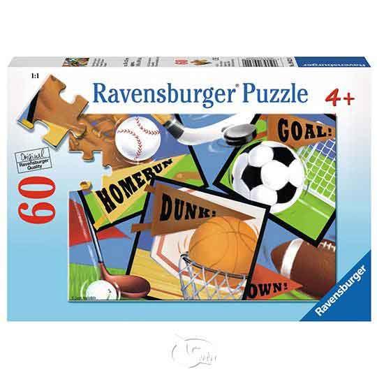 【德國Ravensburger拼圖】運動精神-60片Sports! Sports! Sports!