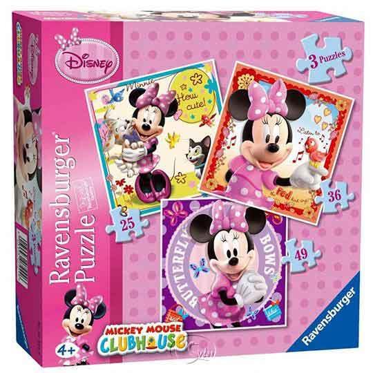 【德國Ravensburger拼圖】米妮與好朋友-3 in 1(25-36-49)片Disney Mickey Mouse: Minnie