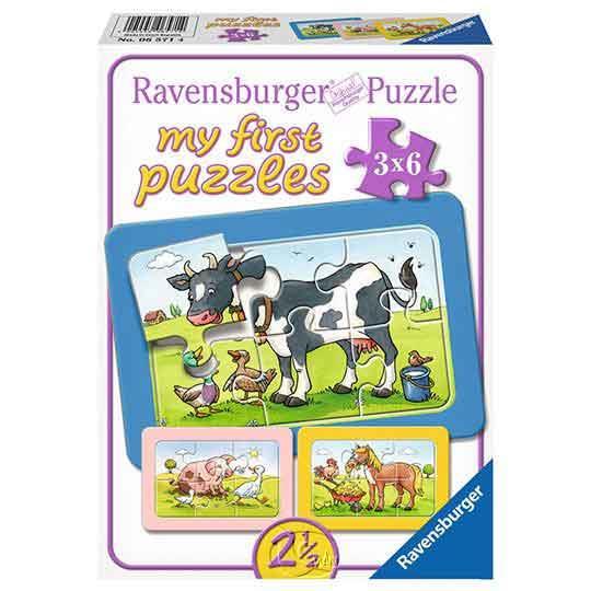 【德國Ravensburger拼圖】【我的第一幅拼圖】我的動物好朋友-3x6片My first Puzzle - Good Animal Friends