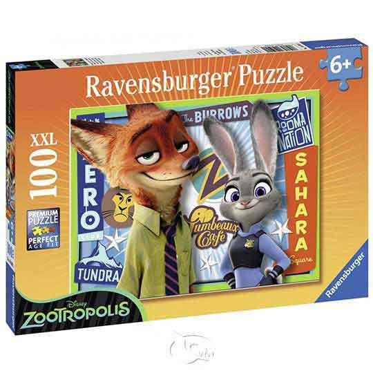 【德國Ravensburger拼圖】動物方城市:好夥伴-大拼片拼圖-100XXL片Disney: Zootopia