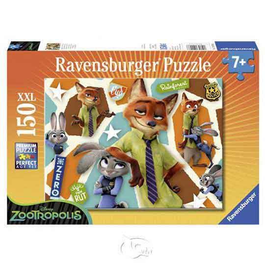 【德國Ravensburger拼圖】動物方城市:茱蒂與尼克-大拼片拼圖-150XXL片Disney: Zootopia