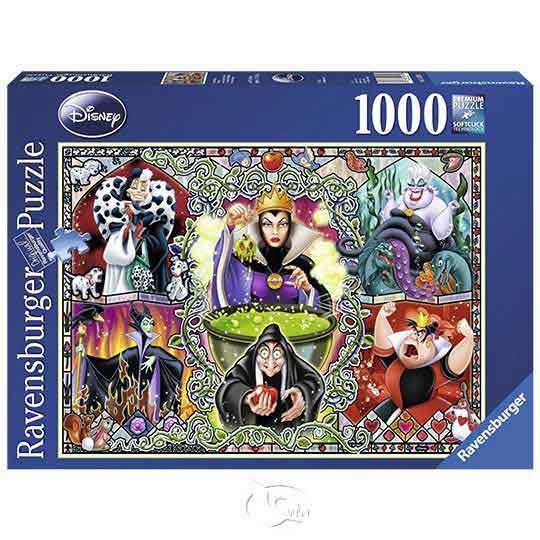 【德國Ravensburger拼圖】迪士尼:壞女人-1000片Disney Wicked Women