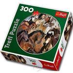 【波蘭TREFL拼圖】馬兒群像-圓形拼圖-300片Horses