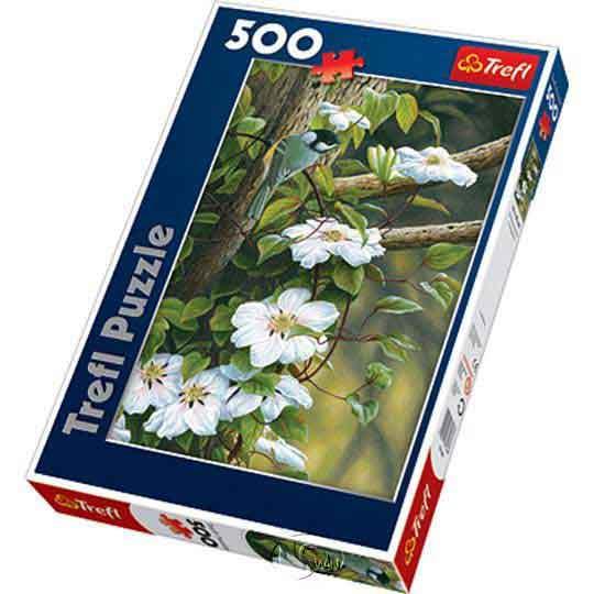 【波蘭TREFL拼圖】花間山雀-500片Tit Among Flowers